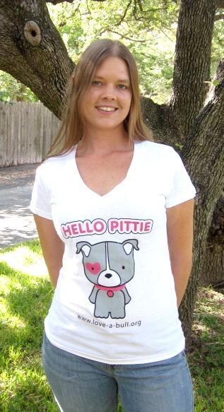 Women's V-Neck, Hello Pittie