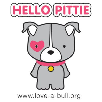 Hello Pittie Sticker