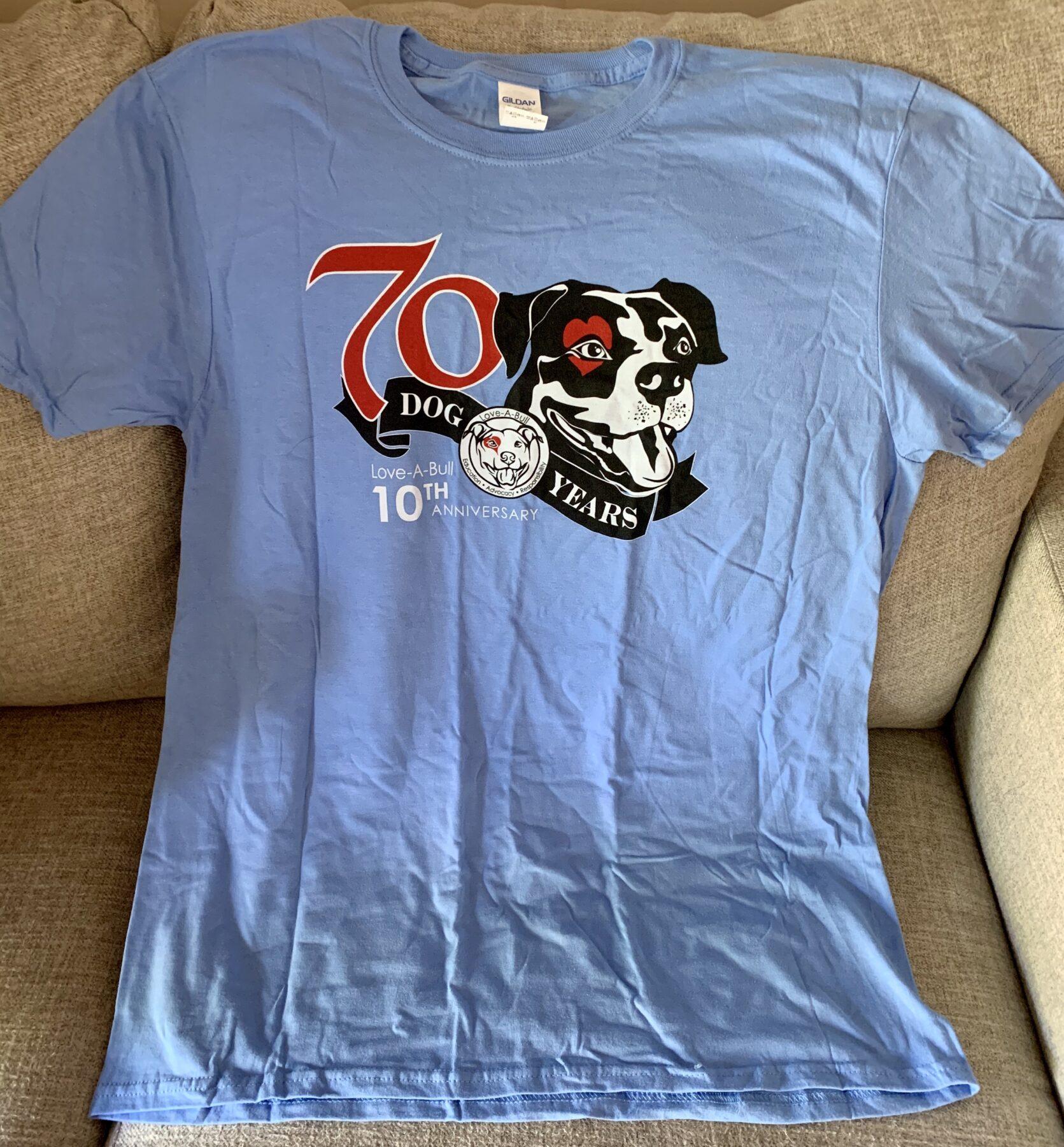 Unisex T-Shirt (Blue), 10-Year Anniversary