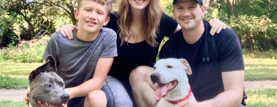 Kristin Boulder Dom Love-A-Bull Adoption Success Stories